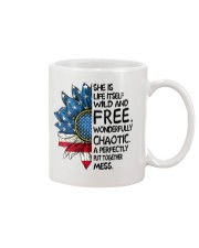 She Is Life Itself American Flag Sunflower Mug thumbnail