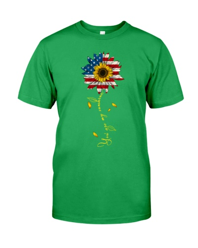 You Are My Sunshine Sunflower American Flag