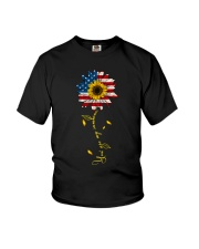 You Are My Sunshine Sunflower American Flag Youth T-Shirt thumbnail