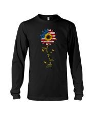 You Are My Sunshine Sunflower American Flag Long Sleeve Tee thumbnail