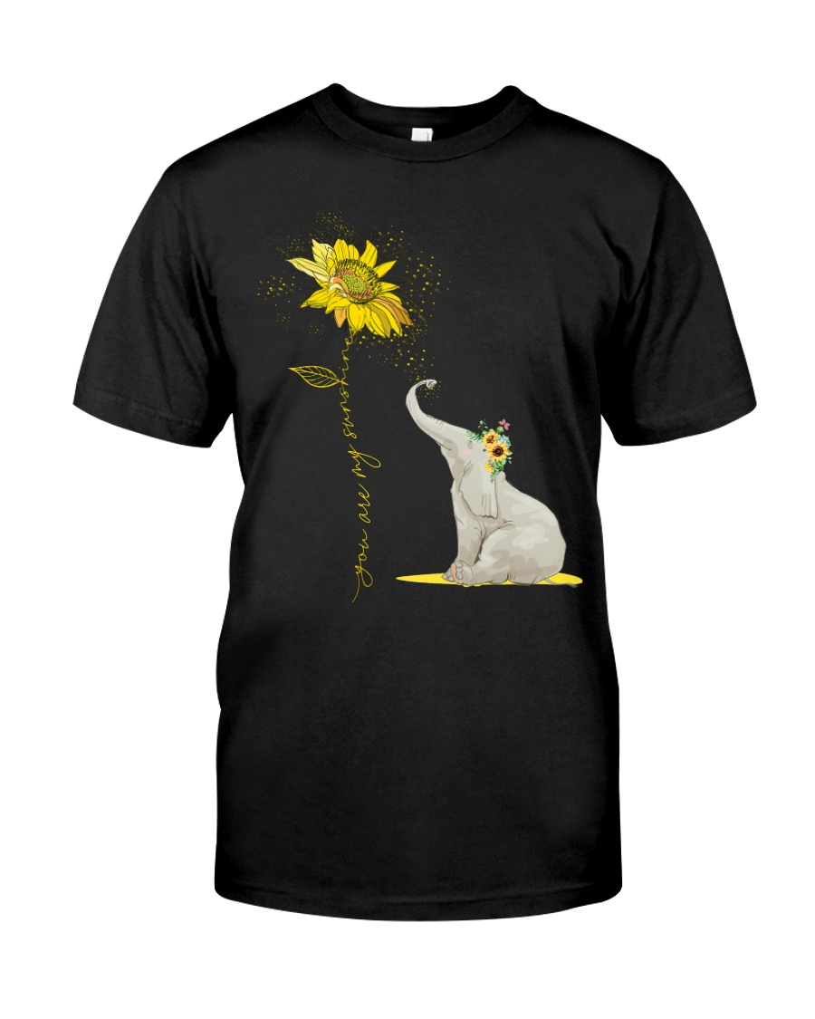 You Are My Sunshine Sunflower Elephant Classic T-Shirt