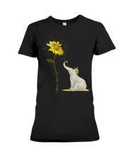 You Are My Sunshine Sunflower Elephant Premium Fit Ladies Tee thumbnail