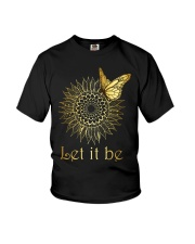 Let It Be Sunflower Butterfly Youth T-Shirt thumbnail