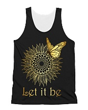 Let It Be Sunflower Butterfly All-over Unisex Tank thumbnail