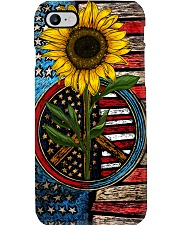 American Flag Sunflower Peace Phone Case i-phone-8-case