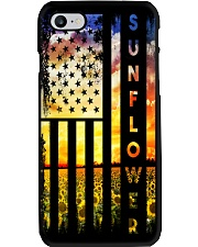 Sunflower Amrican Flag 4th July Back Phone Case thumbnail