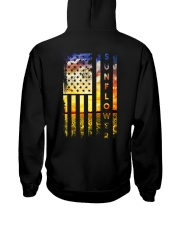Sunflower Amrican Flag 4th July Back Hooded Sweatshirt thumbnail