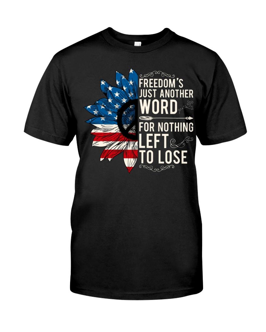 American Flag Sunflower Freedom Classic T-Shirt