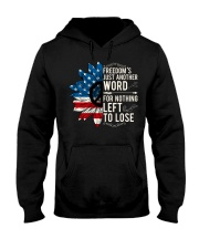 American Flag Sunflower Freedom Hooded Sweatshirt thumbnail