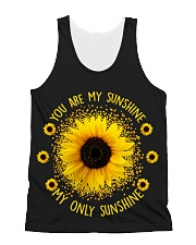 You Are My Sunshine Sunflower All-Over Unisex Tank tile