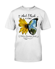 What A Wonderful World Sunflower Classic T-Shirt front