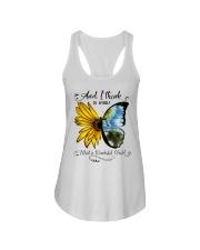 What A Wonderful World Sunflower Ladies Flowy Tank thumbnail