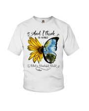 What A Wonderful World Sunflower Youth T-Shirt thumbnail