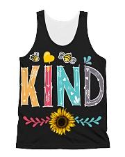 Bee Kind Sunflower All-over Unisex Tank thumbnail