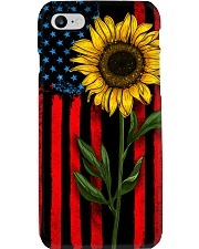 American Flag Sunflower Phone Case i-phone-7-case