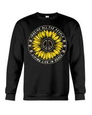 Imagine All The People Living Life In Peace Crewneck Sweatshirt thumbnail