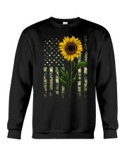 American Flag Camo Pattern Sunflower Crewneck Sweatshirt thumbnail