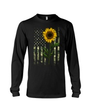 American Flag Camo Pattern Sunflower Long Sleeve Tee thumbnail
