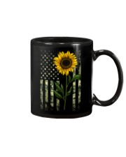 American Flag Camo Pattern Sunflower Mug thumbnail