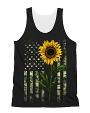 American Flag Camo Pattern Sunflower All-over Unisex Tank thumbnail