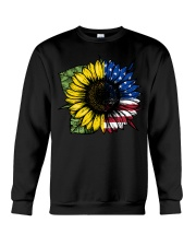 Sunflower American Flag Crewneck Sweatshirt thumbnail