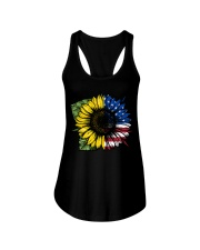 Sunflower American Flag Ladies Flowy Tank thumbnail