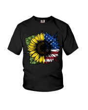 Sunflower American Flag Youth T-Shirt thumbnail