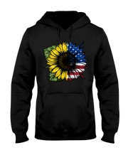Sunflower American Flag Hooded Sweatshirt thumbnail
