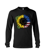 Sunflower American Flag Long Sleeve Tee thumbnail