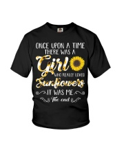 Once Upon A Time There Was A Girl Loved Sunflower Youth T-Shirt thumbnail