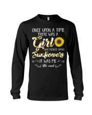 Once Upon A Time There Was A Girl Loved Sunflower Long Sleeve Tee thumbnail