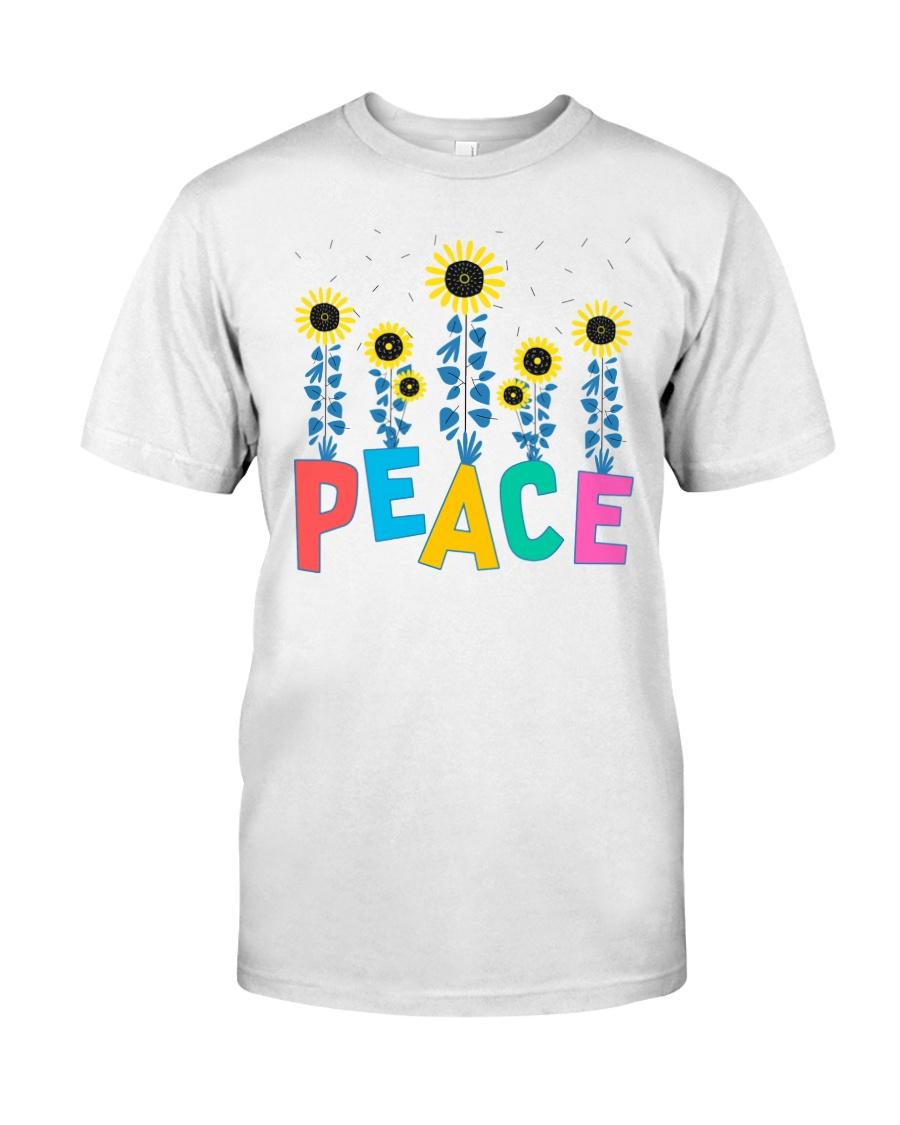 Peace Sunflower Art Classic T-Shirt