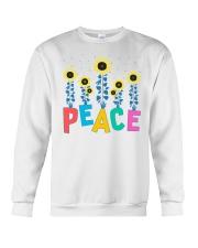 Peace Sunflower Art Crewneck Sweatshirt thumbnail