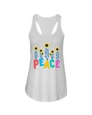 Peace Sunflower Art Ladies Flowy Tank thumbnail