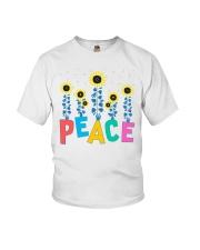 Peace Sunflower Art Youth T-Shirt thumbnail