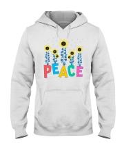 Peace Sunflower Art Hooded Sweatshirt thumbnail