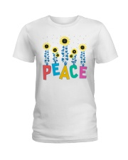 Peace Sunflower Art Ladies T-Shirt thumbnail
