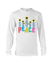 Peace Sunflower Art Long Sleeve Tee thumbnail