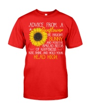 Advice From A Sunflower Classic T-Shirt front