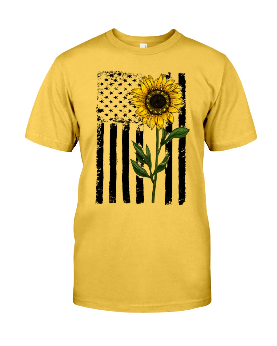 Betsy Ross American Flag Sunflower Classic T-Shirt
