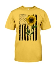 Betsy Ross American Flag Sunflower Classic T-Shirt front