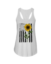 Betsy Ross American Flag Sunflower Ladies Flowy Tank thumbnail