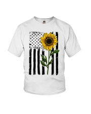 Betsy Ross American Flag Sunflower Youth T-Shirt thumbnail