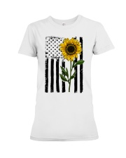 Betsy Ross American Flag Sunflower Premium Fit Ladies Tee thumbnail