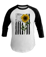 Betsy Ross American Flag Sunflower Baseball Tee thumbnail