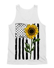 Betsy Ross American Flag Sunflower All-over Unisex Tank thumbnail