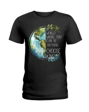 Choose Kind Earth Ladies T-Shirt front