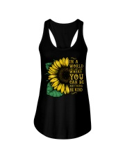 In A World Wherer You Can Be Anything Be Kind Ladies Flowy Tank tile