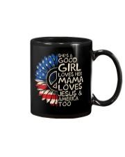 She's A Good Girl American Flag Sunflower Mug thumbnail