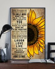 Today Is A Good Day To Have A Great Day Sunflower 16x24 Poster lifestyle-poster-2